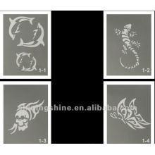 Hot Design Glitter Tattoo Schablone für Körper und Gesicht Kunst