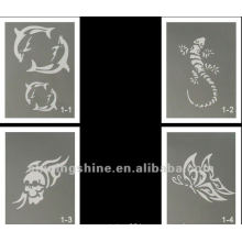 hot design glitter tattoo stencil for body and face art