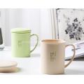 Bamboo Fiber Plastic Tableware Mugs with Lid