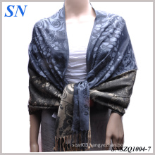 2014 Fashion Jacquard Satin Pashmina Stoles Scarves for Women