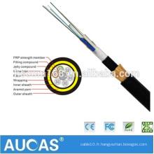 Fournisseur chinois Alimentation extérieure ADSS 12 ~ 144 core Fiber Optic ADSS cable Prix