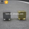 15mm square Shiny Luxury Zinc Alloy Perfume Bottle Cap