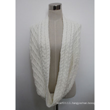 Women Acrylic Knitted Infinity Fashion Scarf (YKY4380-2)
