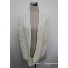 Women Acrylic Knitted Infinity Fashion Scarf (YKY4380-2)