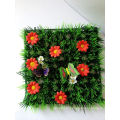 Artificial PE material decoration grass carpet with ladybugs and flowers