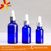 20ml 30ml botella de gotero de vidrio azul de 50ml