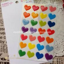 Heart Resign Dome Logo Epoxy Label Sticker, Epoxy Sticker Label, Soft Epoxy Resin Dome Label