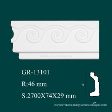 high density fireproof PU decorative trim molding for interior decoration