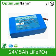 Batterie au lithium profonde de la vie de cycle 24V 5ah pour le réverbère