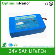 Bateria de lítio profunda da vida de ciclo 24V 5ah para a luz de rua