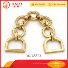 Hochwertiger kundenspezifischer Metallkettenhandgriff für Handtasche
