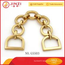 High quality custom metal chain handle for handbag