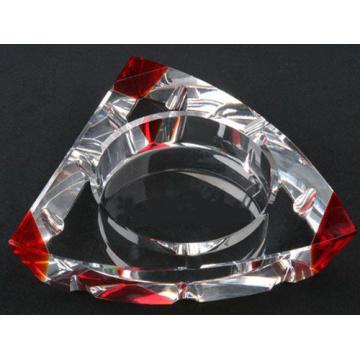 New Design Tringle Crystal Glass Cigar Ashtray (Smoking Cigar Ashtray) (JD-YG-006)