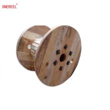 Carrete de cable de alambre de madera de pino grande