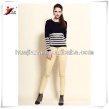 westlichen Stil klassischen Streifen Frauen Fledermaus Ärmel Pullover
