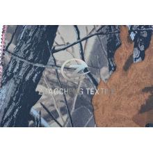 100% Tissu en coton sergé avec gris clair Forêt Camou pour gilet (ZCBP261)