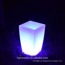 Europa estilo LED plástico vaso de flores ao ar livre luz até humor Levou planta vaso de luz