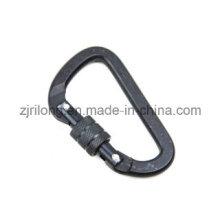 D en forme de crochet en aluminium Keychain avec Screwlock Dr-Z0102