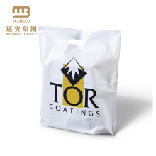 Fabrikverkauf Guangzhou biologisch abbaubare LDPE benutzerdefinierte Kunststoff-Einkaufstaschen mit Logo