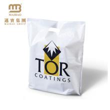 Sacos de compras plásticos feitos sob encomenda biodegradáveis do LDPE de Guangzhou da VENDA da FÁBRICA com logotipo