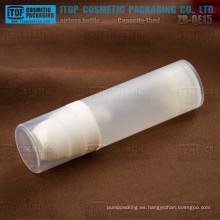 ZB-QE15 15ml respetuoso todo el color natural sentimiento personalizable popular todo plástico 15ml recarga cosméticos envases
