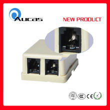 RJ11 Single Port modular Jack de superficie con gel de gelatina