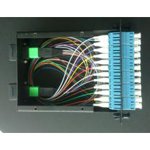MPO / MTP Kassette mit MPO-LC 12cores 0.9mm Patchcord und Adapter