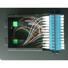 Cassette MPO / MTP avec cordon et adaptateurs MPO-LC 12cores 0.9mm