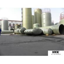Tanque horizontal FRP para productos químicos o agua