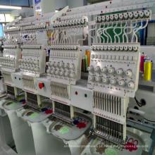 9 agulhas informatizadas 4 cabeça máquina de bordar para o bordado liso da camisa do tampão t