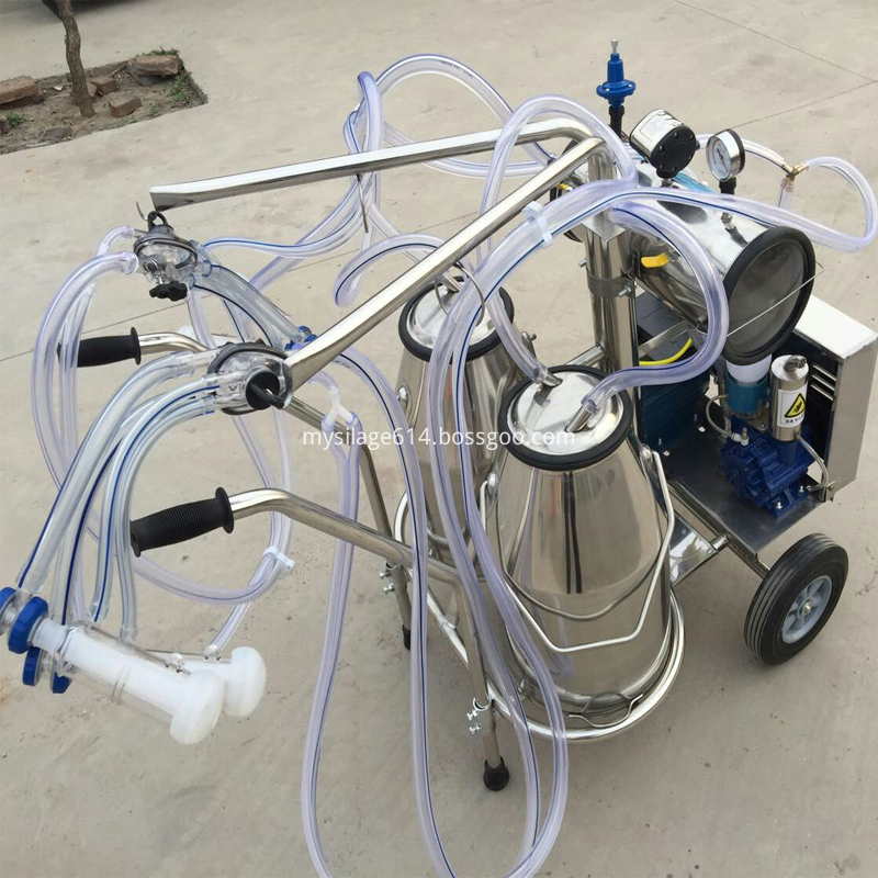 double claws milking machine