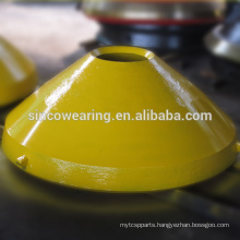 Cone Crusher Spare Parts bowl liner and mantle in Material of high Manganese