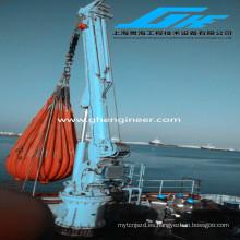 Quayside Hydraulic Knuckle Boom Plataforma De Barco Cargo Crane