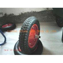a borda de aço de borracha roda 3.00-8, combinados com parafusos.