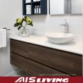 Armoires de salle de bains accrochantes de mur de placage naturel pour la Chambre (AIS-B022)