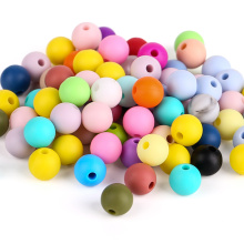 BPA Free Round Silicone Teething Beads