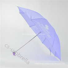 "21"" Light Purple Print Logo 4 Fold Umbrella (YS4F0003)"