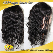 6A grau natural cor preta peruvian cabelo humano rendas frente perucas em miami