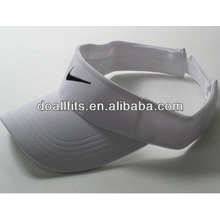 100% polyester Customized Logo fashion Sun visor cap