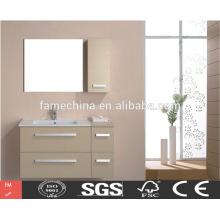 Moderno acabamento personalizado mobiliário de banheiro l em forma de banheiro vaidade