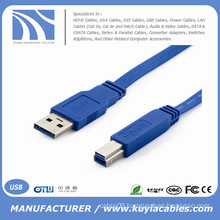 High Speed USB 3.0 AM/BM Printer Flat cable 35cm,50cm,1m,2m,3m,5m..
