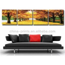 Handmade, bonito, paisagem, arte, quadro, lona