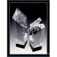 Optischer Kristall Diamond Tower Award Trophäe 5 Zoll hoch (NU-CW764)