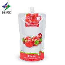 Juice sachet liquid packaging spout pouch