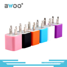 Colorful Mini Single USB Travel Charger for Mobile Phone