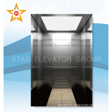 Luxury Hairline Stainless Steel Commercial Passenger Elevators