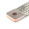 Conector trançado de cobre flexível não isolado estanhado do barramento / barra ajustável