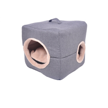 Customized for Offer Pet Beds,Soft Pet Bed,Round Pet Bed From China Manufacturer Pet Bed 2 in 1 Cube export to Indonesia Manufacturer