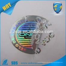 Hologramas coloridos segurança nó etiquetas / holograma com adesivos vazios
