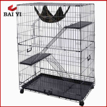 Wholesale luxury indoor metal wire folding large pet cat cage